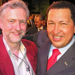 Jeremy Corbyn and Hugo Chávez